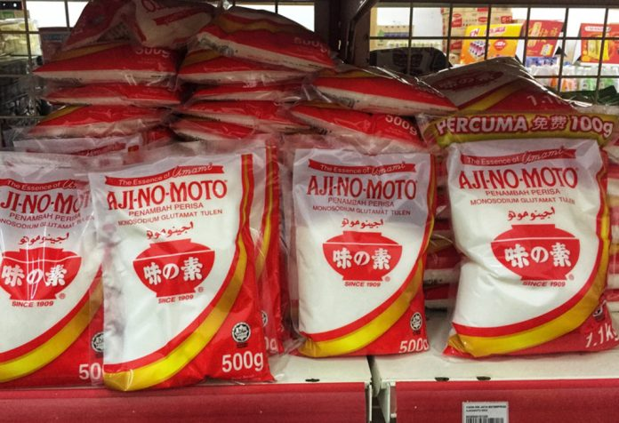 Packets of Ajinomoto