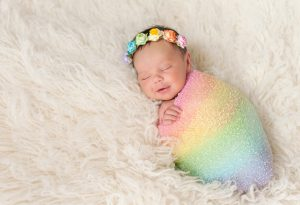 Newborn Baby Girl Smiling Picture