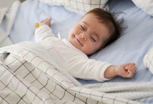 Sleeping Baby Smiling Image
