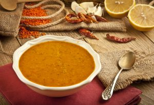 PUMPKIN AND LENTILS SOUP