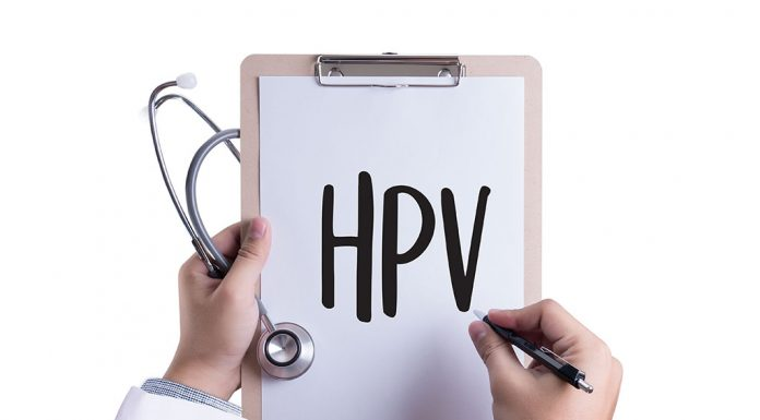 HPV written on a paper