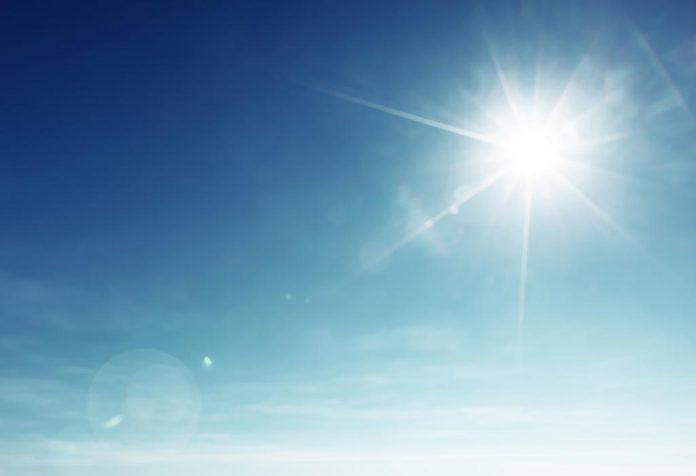Sun shining