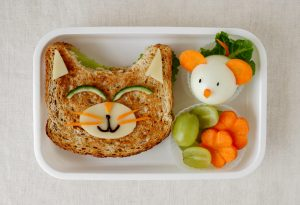 A cat-faced sandwich