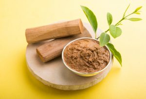 Sandalwood paste for baby acne