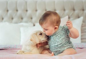 Picture of Sweet Baby and Puppy