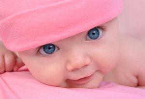 Newborn Baby Girl Smiling Image