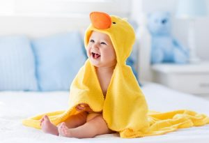 Picture of Baby in Towel Smiling
