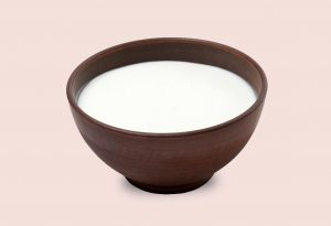 Milk in a bowl