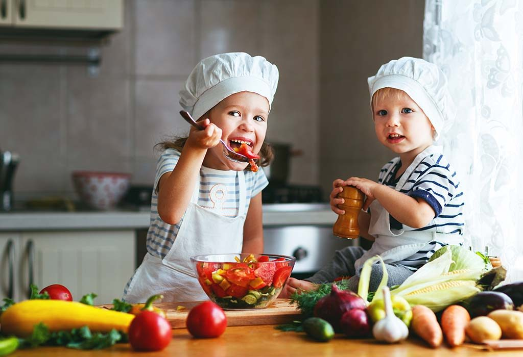 Involve children in the cooking process