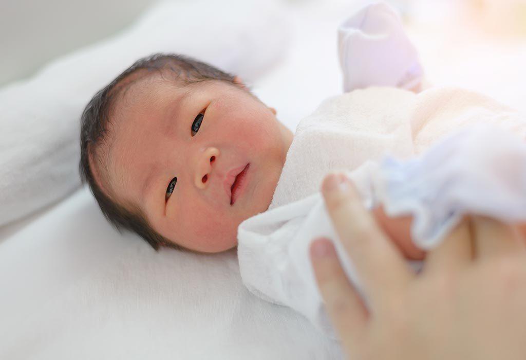A baby at birth