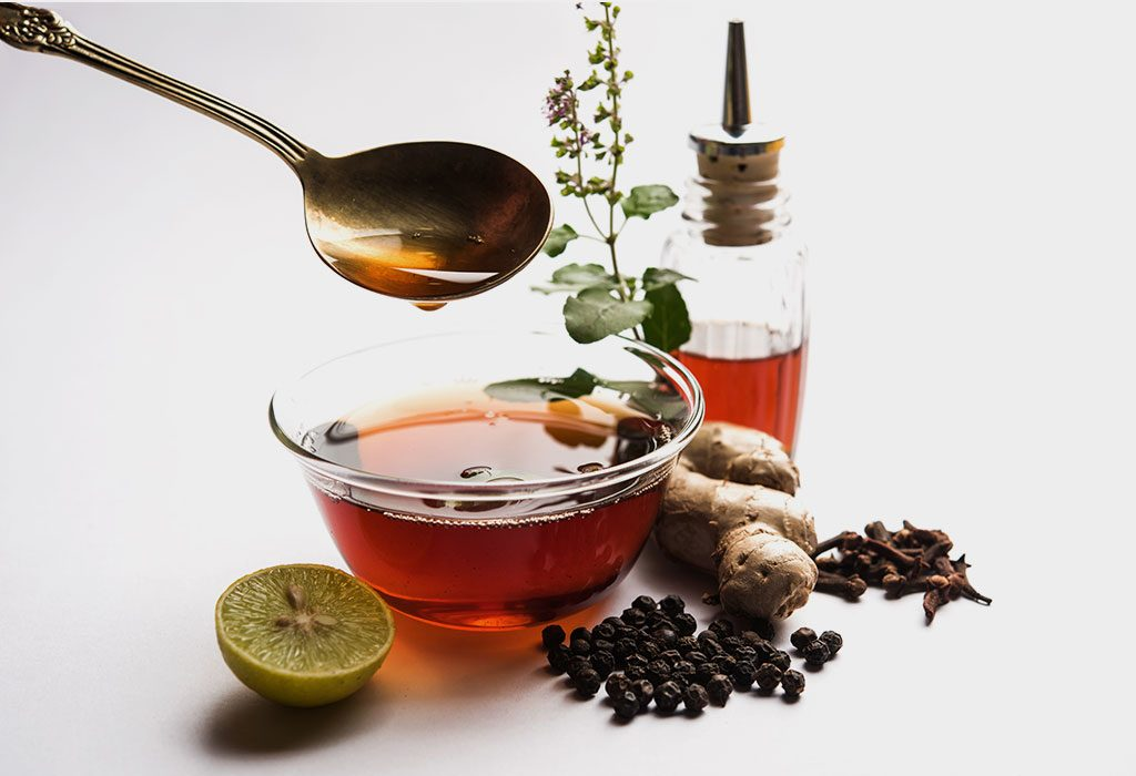 Tulsi and Honey: Cough Remedies for Kids at Night