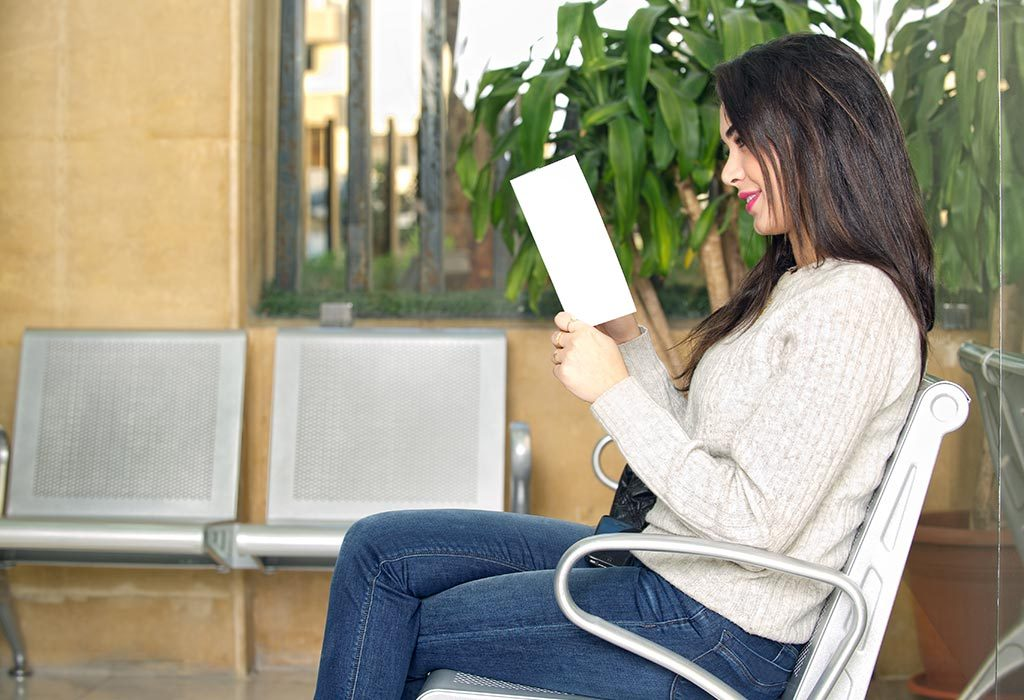Woman waiting for clinical tests