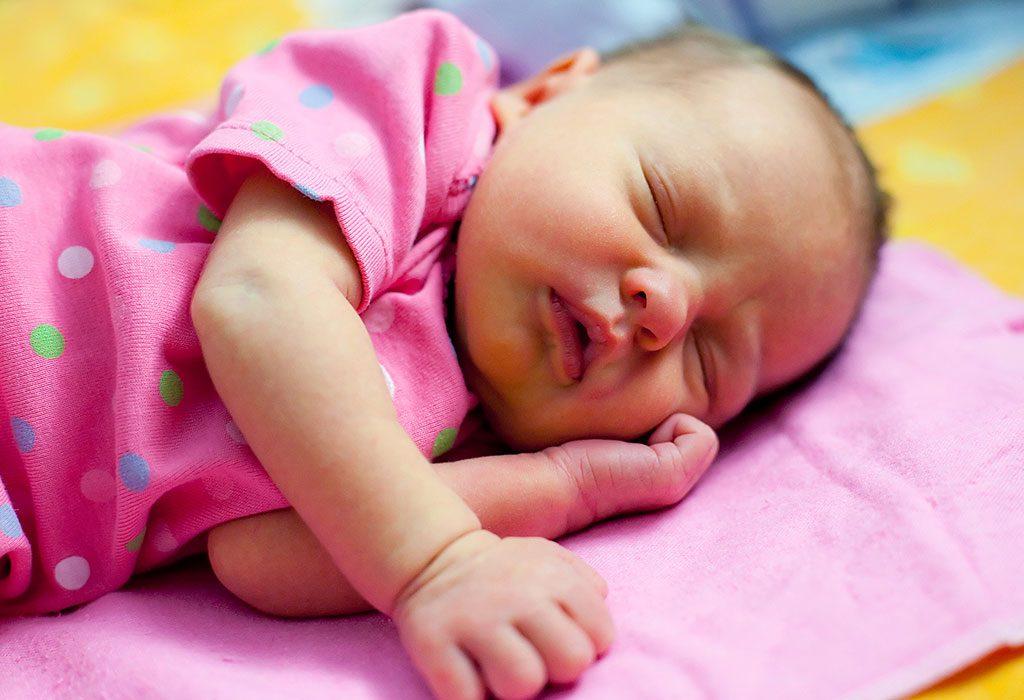 Newborn baby with jaundice