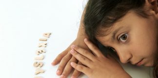A girl with dyslexia