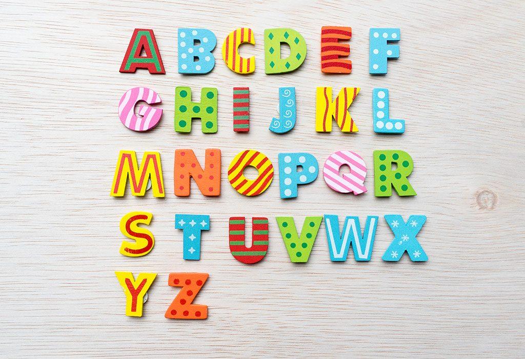Alphabet wall