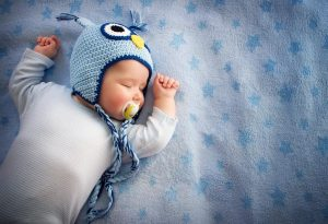 A 4-months-old baby sleeping
