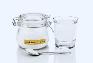 Baking soda in water
