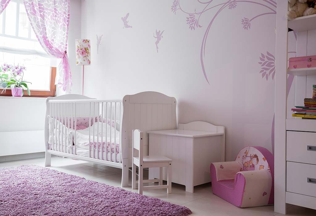 A baby's room in pink