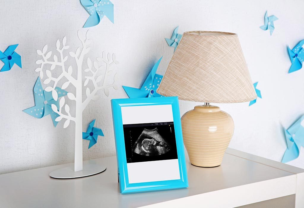 Ultrasound scan in a frame