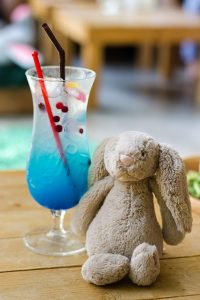 A blue mocktail