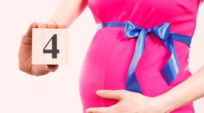 गर्भधारणेच्या ४थ्या महिन्यातील लक्षणे, शारीरिक बदल, आहार आणि काळजी