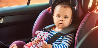 A baby in acar