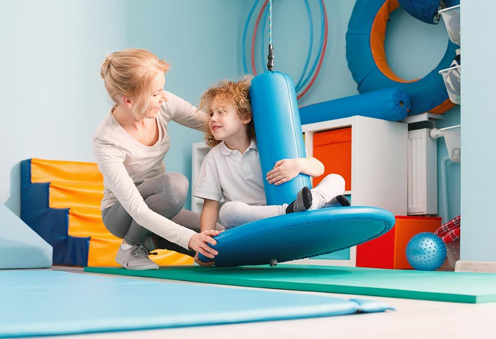 Boy getting occupational therapy