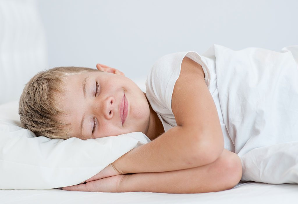 A kid sleeping