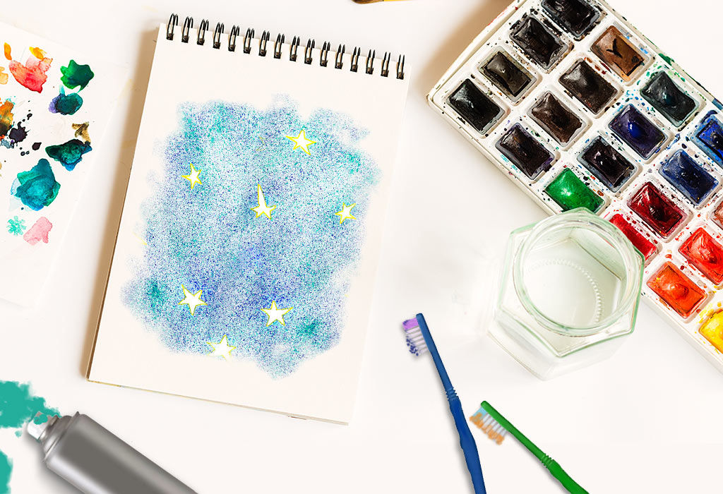 4 Creative Bottle & Toothbrush Painting Ideas for Kids