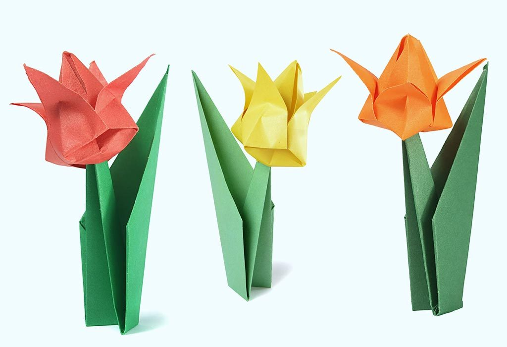 How to Make Origami Flowers - Origami Tulip Tutorial with Diagram | Easy  origami flower, Origami flowers, Origami easy | 700x1024