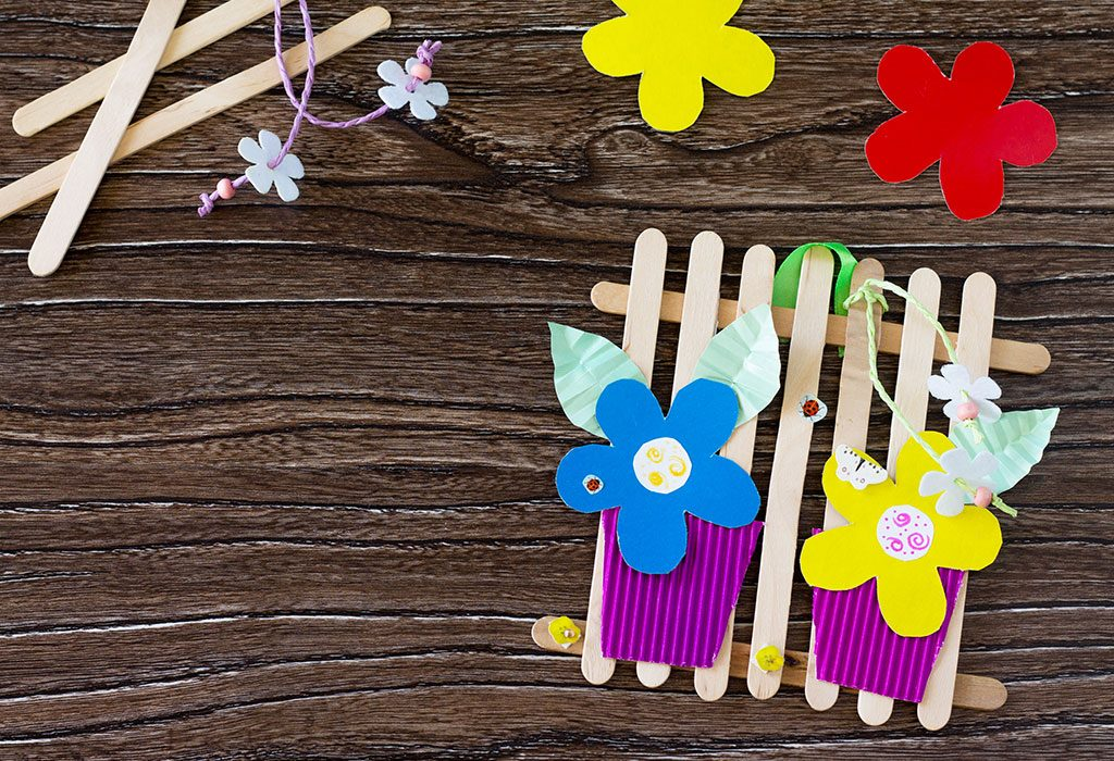 Ice cream sticks craft