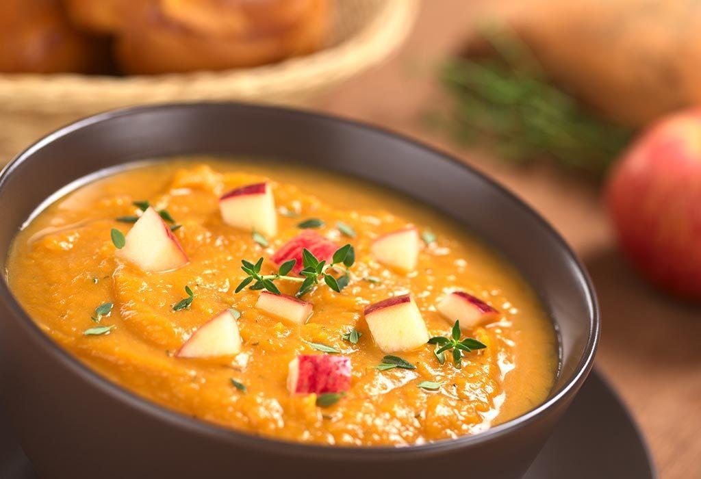 Apple and sweet potato soup.