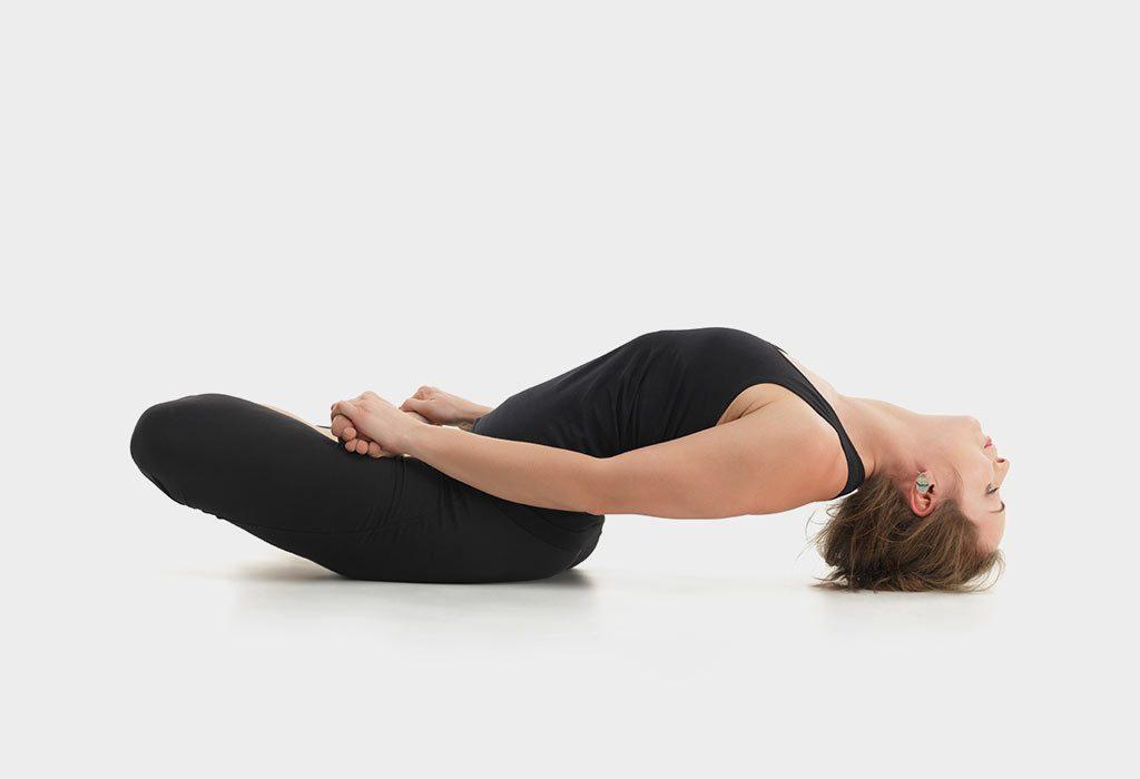 Lying back pose