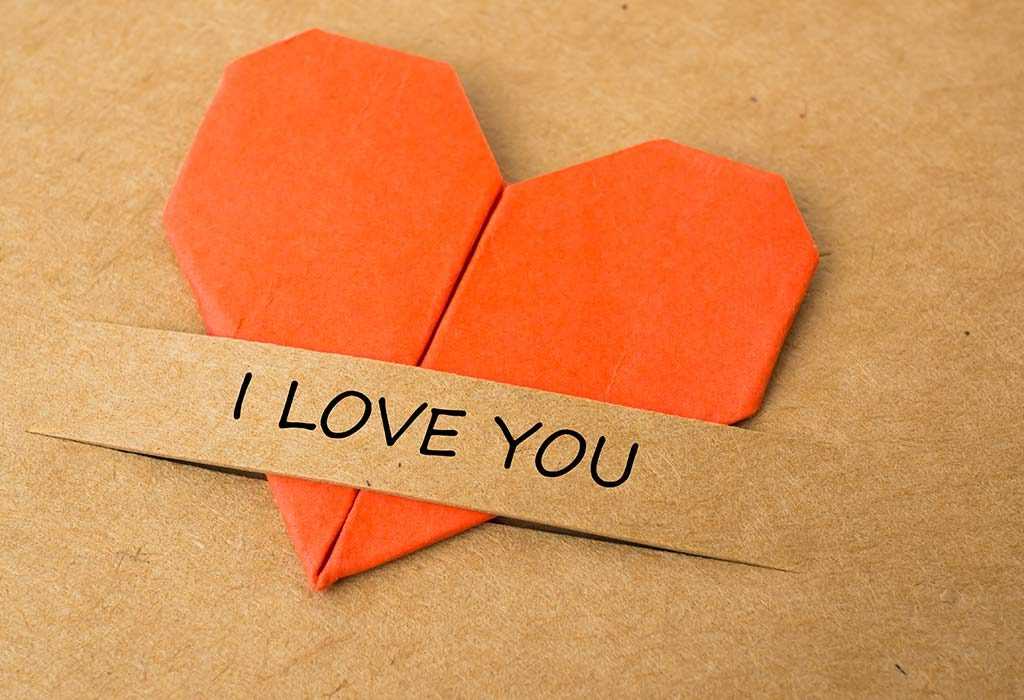 Handmade I-love-you card