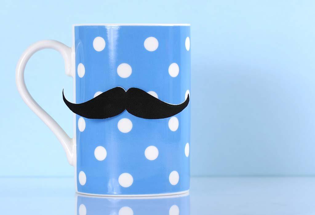 A moustache mug