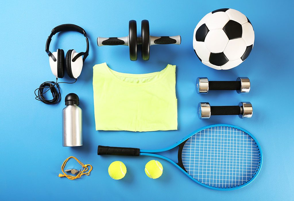 Different sports gear