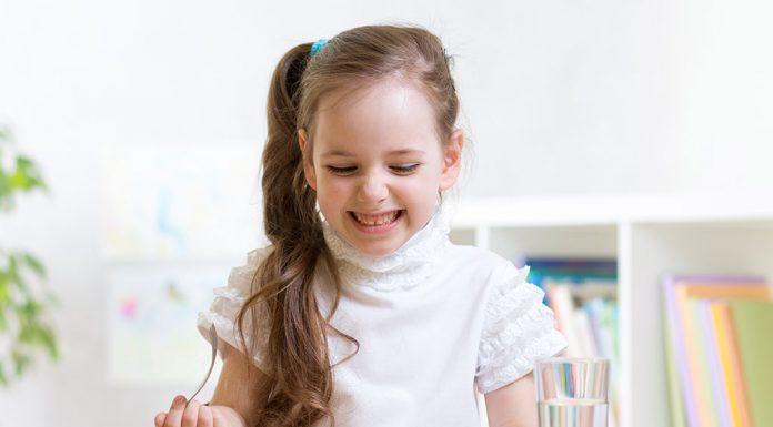 A kid eating food