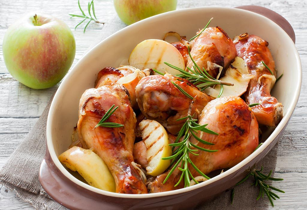 Apple and chicken