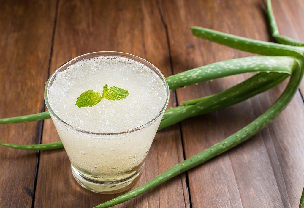 Aloe vera and its juice