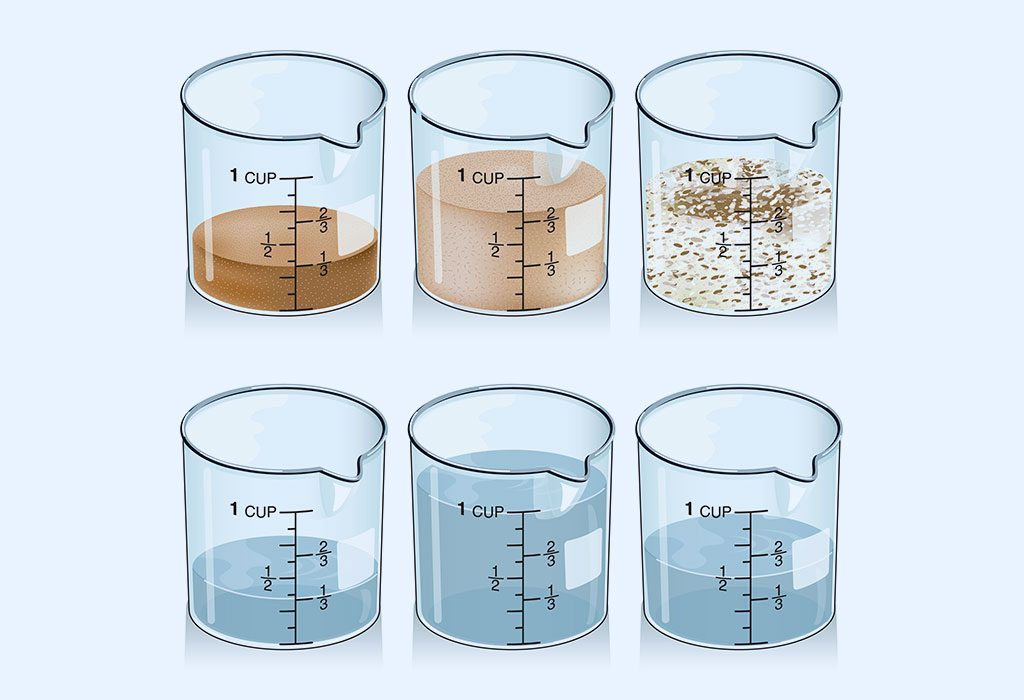 DIFFERENT MEASURING CUPS