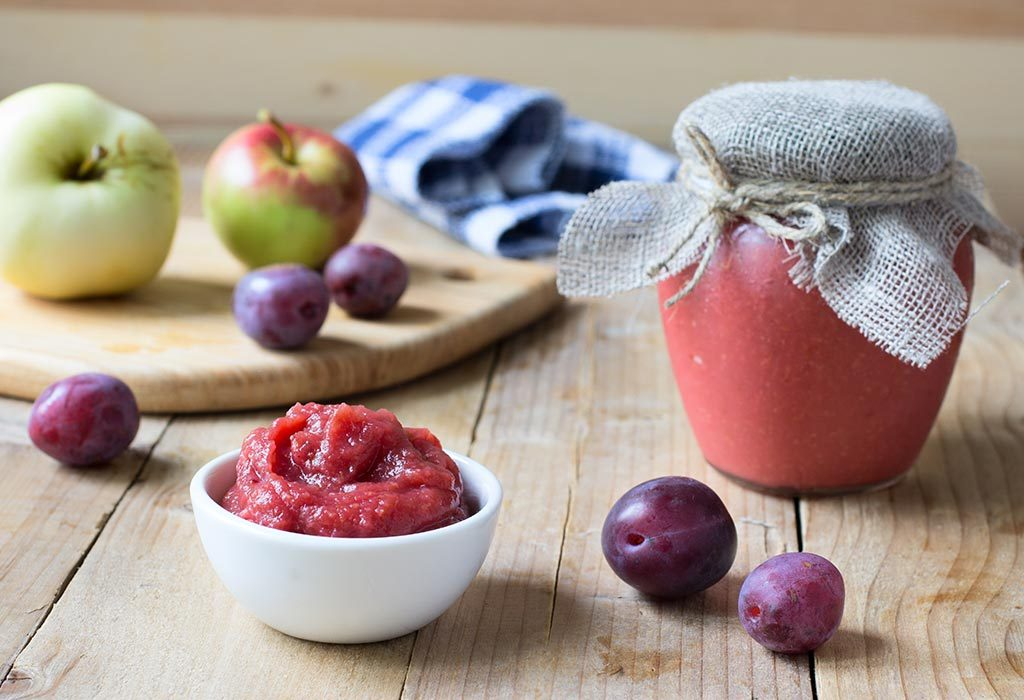 Pear and Plum Puree