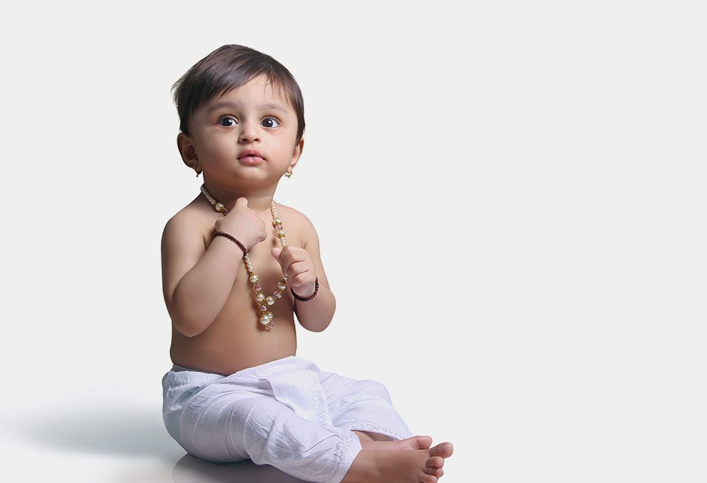 A baby in dhoti