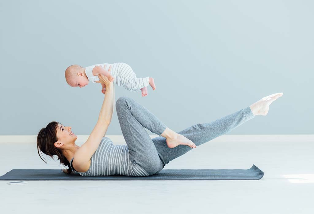 A new mom exercising