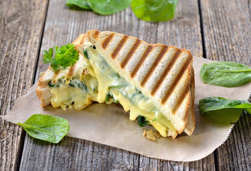 Cheese Spinach Sandwich