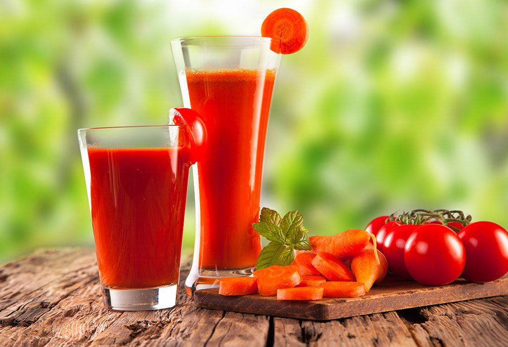 CARROT GINGER AND TOMATO JUICE