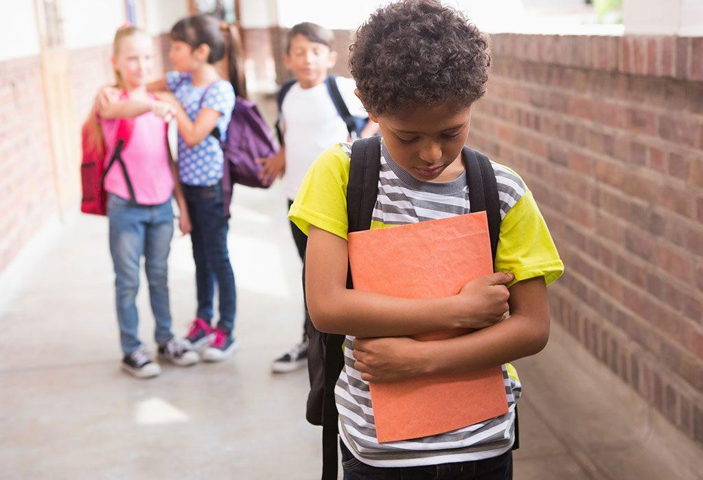 An introvert child in school