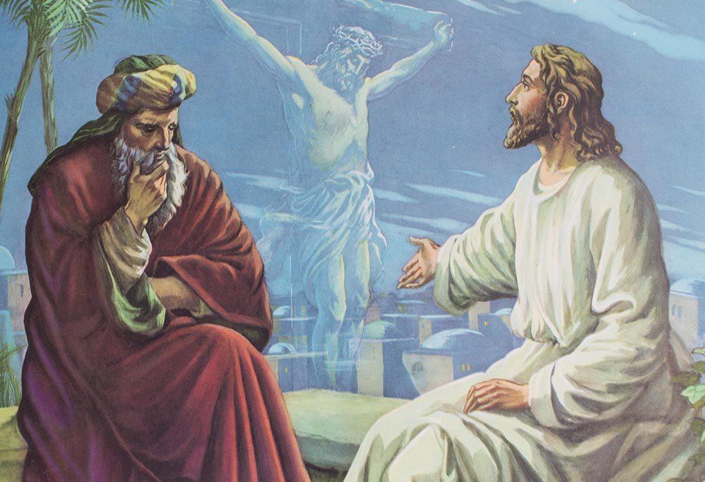 Jesus teaching Nicodemus