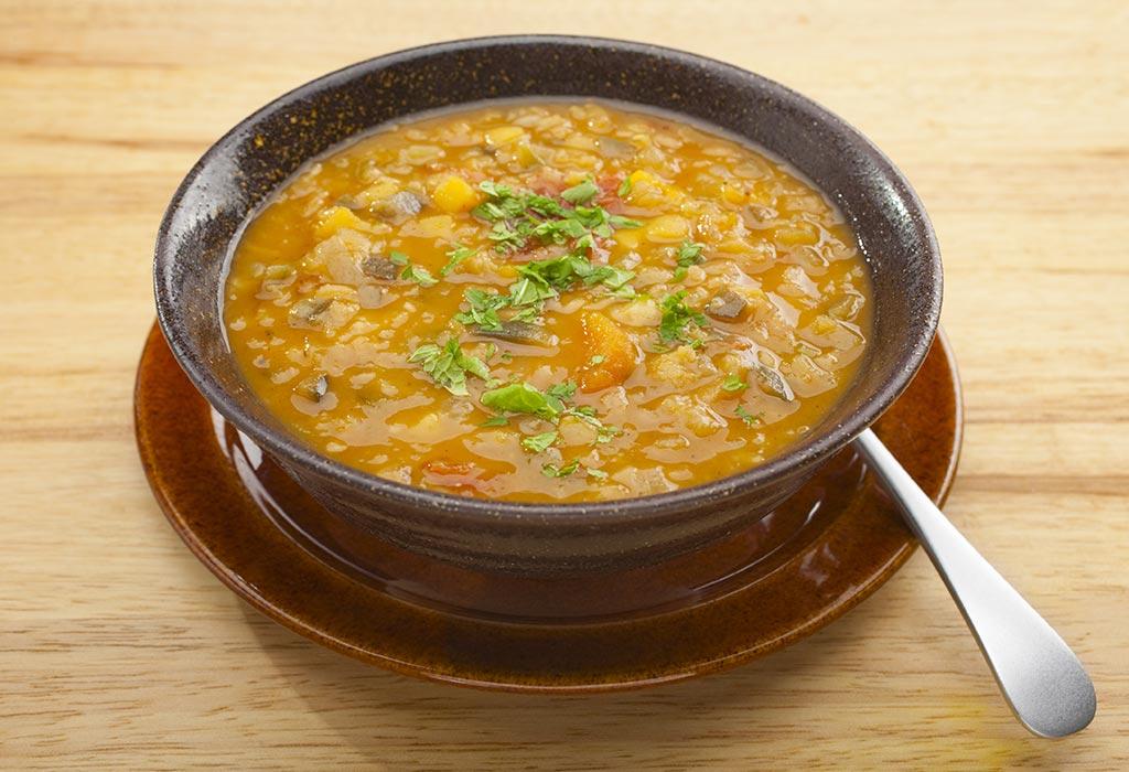 दाल और खुबानी का सूप