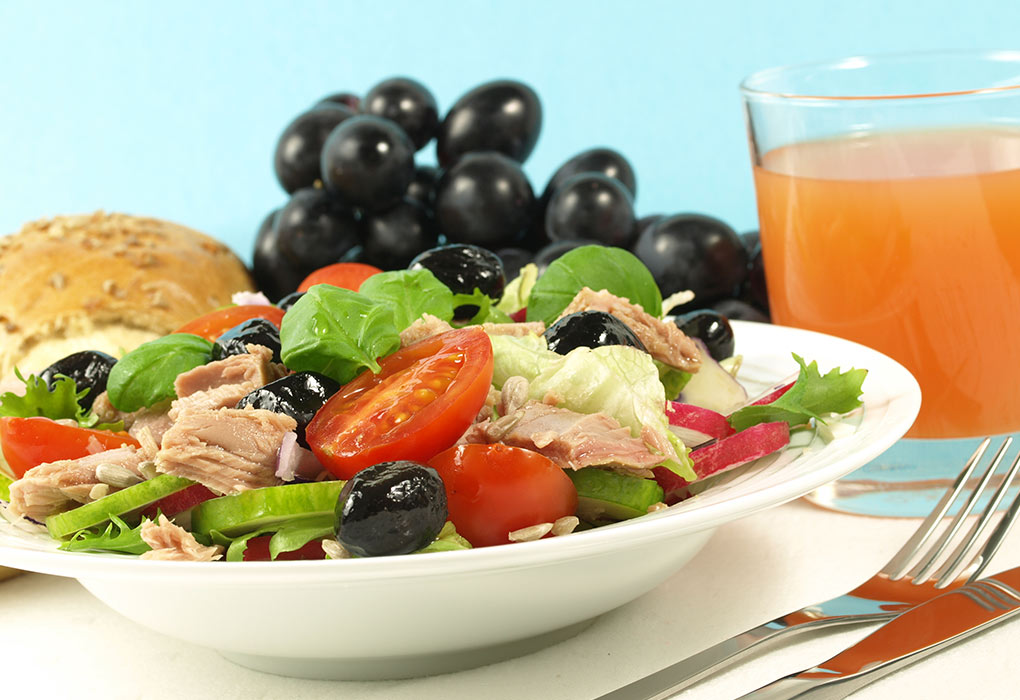 Grape and tuna salad