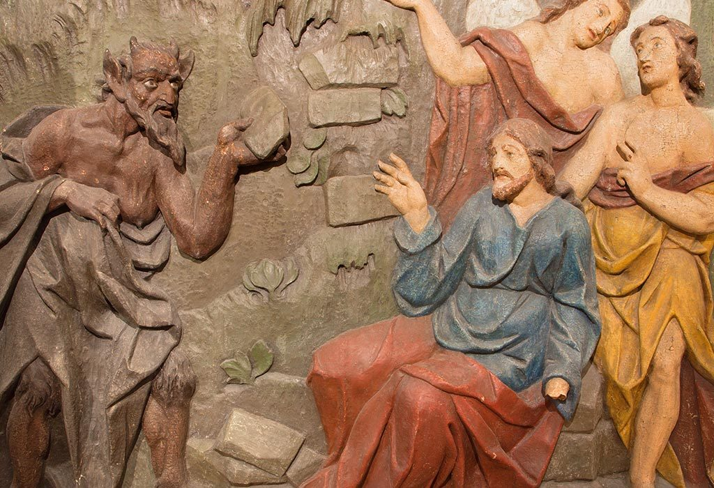 The Devil tempts Jesus